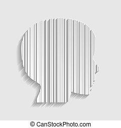 stile, illustration., segno., barcode, faccia, carta, icon.