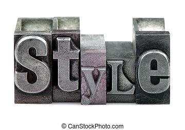 stile, letterpress