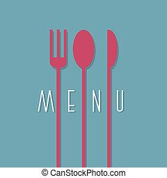 stile, menu ristorante, -, variazione, 1, disegno, elegante, minimo