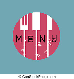 stile, menu ristorante, -, variazione, 2, disegno, asiatico, elegante