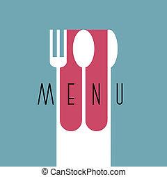 stile, menu ristorante, -, variazione, 2, disegno, elegante, minimo