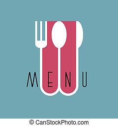 stile, menu ristorante, -, variazione, 3, disegno, elegante, minimo