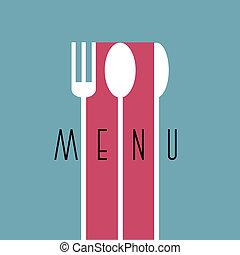 stile, menu ristorante, -, variazione, disegno, 6, elegante, minimo