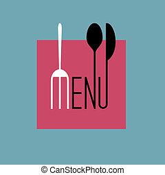 stile, menu ristorante, -, variazione, disegno, elegante, 8, minimo
