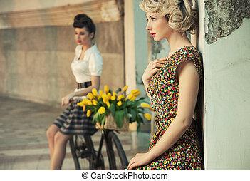stile, moda, donne, splendido, foto
