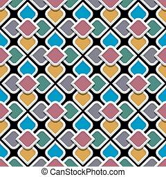 stile, modello, colorato, seamless, arabo, 3d