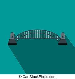 stile, ponte porto sydney, appartamento, icona