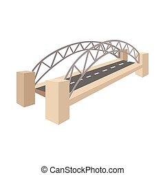 stile, ponte porto sydney, cartone animato, icona