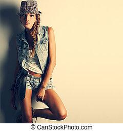 stile, ragazza, moda, bello, foto