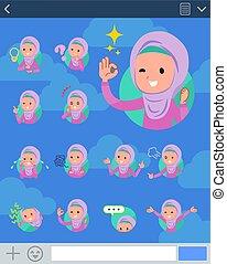 stile, ragazza, sns, hijab, arabo, appartamento, tipo