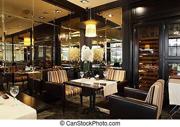 stile, ristorante, lusso, europeo