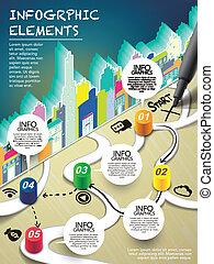 stile, scrittura, monopolio, inizio, penna, infographic, mappa