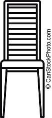stile, sedia, contorno, mobilia, esterno, icona
