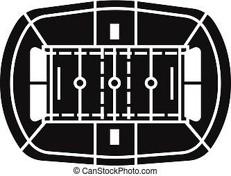 stile, semplice, football, americano, stadio, icona