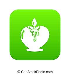 stile, semplice, romanza, nero, icona, candela