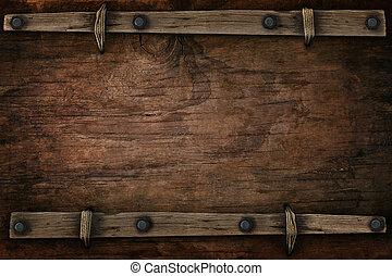 stile, spazio, occidentale, libero, legno