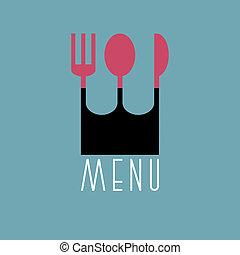 stile, variazione, minimo, -, elegante, 4, menu, disegno, ristorante