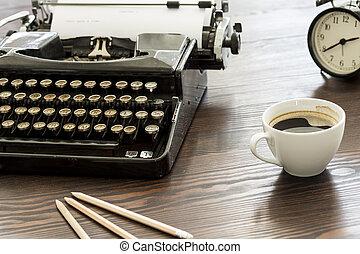 stile, vecchio, scrittura