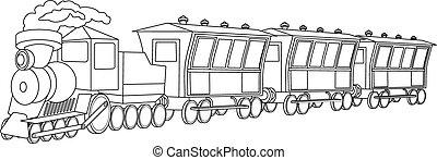 stile, vendemmia, locomotive.