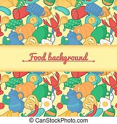 stile, vettore, cartone animato, illustrazione, cucina