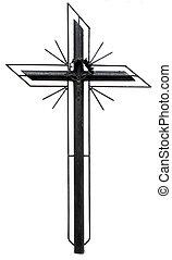 stilizzato, cristiano, croce