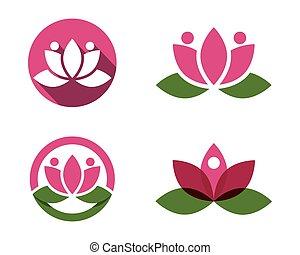 stilizzato, loto, logotipo