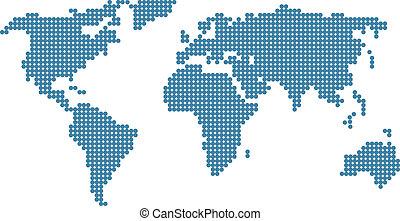 stilizzato, mappa, mondo