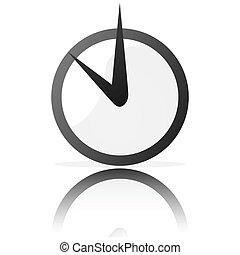 stilizzato, orologio