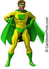 strabiliante, superhero, illustrazione
