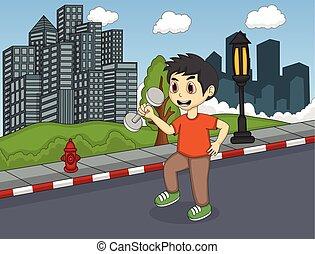 strada, bambini giocando