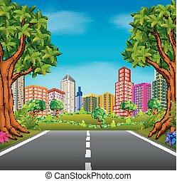 strada città