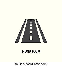 strada, icona, semplice, stile, illustration., vettore, appartamento