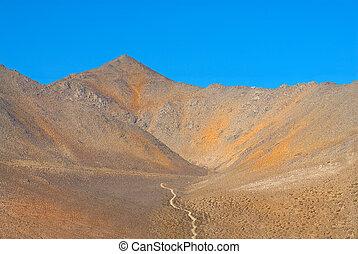 strada immondizia, valle, solo, morte, montagne
