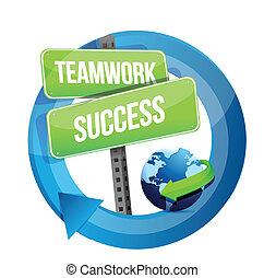 strada, lavoro squadra, successo, segno