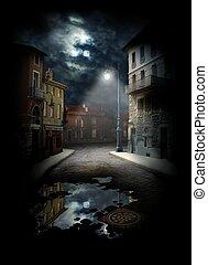 strada, notte