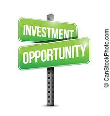 strada, opportunità, investimento, illustrazione, segno