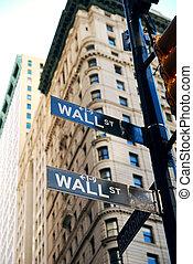 strada, parete, città, york, nuovo