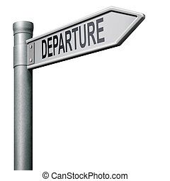 strada, partenza, segno freccia