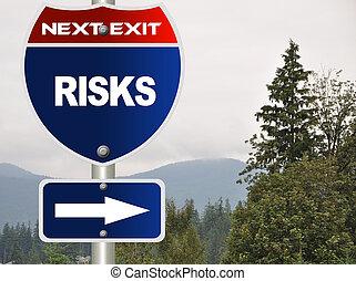 strada, rischi, segno