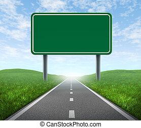 strada, segno strada principale