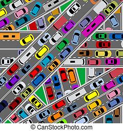 strade, traffico, congestione