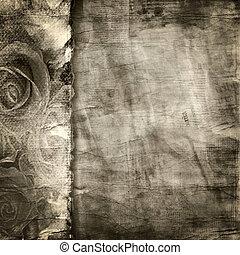 strappato, fondo., carta, vecchio, struttura