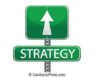 strategia, concetto, segnale stradale