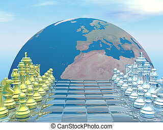 strategia, globale, -, render, 3d