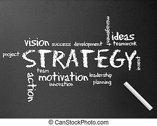strategia, lavagna, -