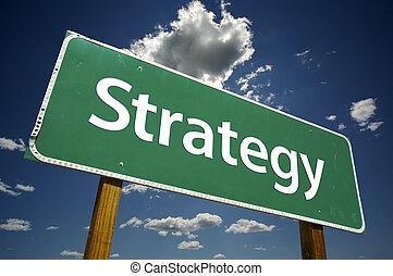 strategia, segno strada