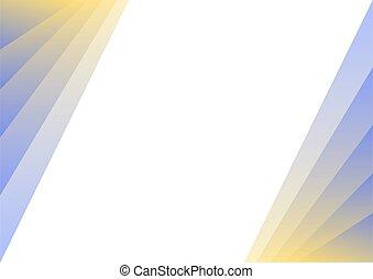 strato, sfondo blu, pastello, giallo, astratto