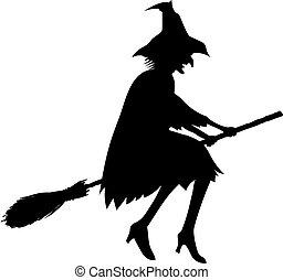 strega, silhouette