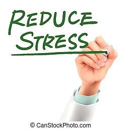 stress, dottore, ridurre, parole, scrittura