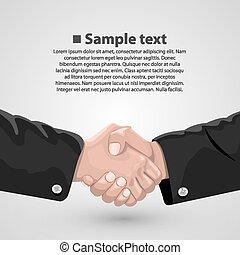 stretta di mano, accordo, affari